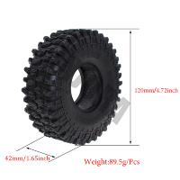 "RUEDAS CRAWLER 120MM 1,9"" SUPER SWAMPER (COPIA) 4 UNID"