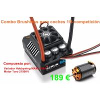 Combo Hobbywing MAX8 150A y motor Toro 2150 Kv coches 1/8