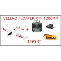 AVION VELERO FLOATER JET 1280MM LISTO PARA VOLAR