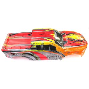 CARROCERIA TRUCK MONSTER 1/8 ROJA NARANJA